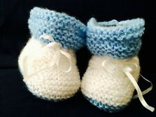Knitted baby shoes