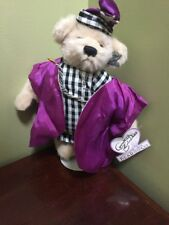 """Annette Funicello teddy Bear purple & plaid Wizard 6"""" jointed adorable Rare"""