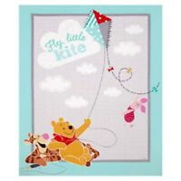 Winnie the Pooh Fly Little Kite Tigger Piglet Cotton Quilting Fabric Panel
