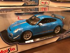 Maisto 1:18 Scale Diecast Model Car -  Porsche 911 GT3 RS 4.0 (Blue)