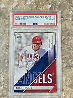 2017 Topps MLB Awards Mike Trout #MVP-1 PSA 10 GEM MINT Los Angeles Angels Card