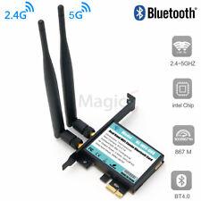 802.11AC Desktop Wifi Card 802.11 A/B/G/N/AC Bluetooth 4.0 AC1200 Card