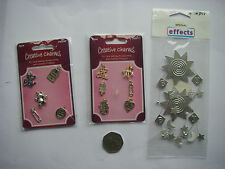JobLot 3 Packs Fabulous 3d BABY BOY GIRL Metal Embellishments FREE  NEW RRP £5