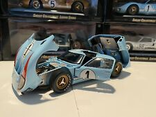 1966 Ford GT-40 MK II #1 Blue Ken Miles Shelby Collectible 1/18 Scale Diecast