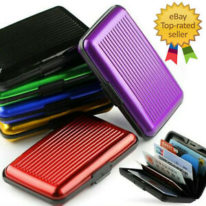 RFID Block Aluminium Credit Card Holder Security Wallet Business Case Travel UK