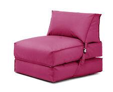 Pink Bean Bag Z Bed Lounger Outdoor Waterproof Garden Children's Kids Chair Seat