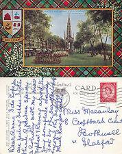 1961 PRINCES STREET & SCOTT MONUMENT EDINBURGH SCOTLAND COLOUR POSTCARD