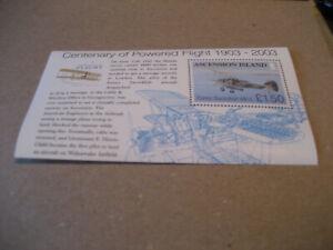 ASCENSION ISLAND  CENTENARY OF POWERED FLIGHT 1903-2003  SOUVENIR SHEET