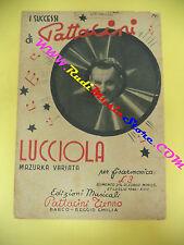 RARO SPARTITO SINGOLO TIENNO PATTACINI Lucciola 1942 fisarmonica no cd lp