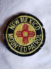 Vintage New Mexico Mounted Patrol Patch 3-Inch