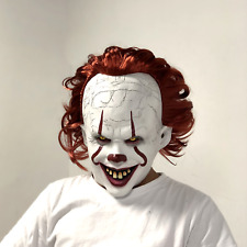 Pennywise Mask Clown It Halloween Stephen King Costume Cosplay Scary Joker Prank