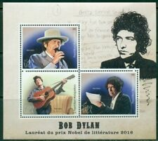BOB DYLAN MINIATURE SHEET 3 VALUES MNH FOLK MUSIC GUITARS ENTERTAINMENT