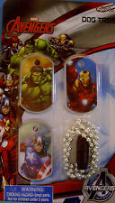 NEW MARVEL AVENGERS DOG TAGS Hulk Iron Man Capt. America Chain MARVEL KIDS