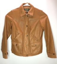 b9b9f69d768 Eddie Bauer Womens Jacket Genuine Lamb Leather Light Brown Size M