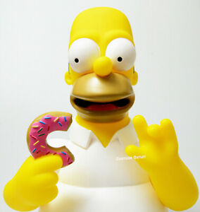 The Simpsons Homer Simpson Pink Donut Figure Large Coin Bank Bust Birthday Gift