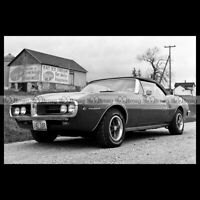 #pha.021492 Photo PONTIAC FIREBIRD CONVERTIBLE 1967 Car Auto