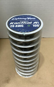 x10 100 ft - 28 Gauge AWG A1 Premium Kanthal Round Wire   A-1 28g Total 1000'
