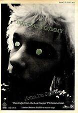 "SNDS15/9/79P29 JOHN DU CANN : DON'T BE A DUMMY SINGLE ADVERT 15X11"""