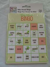 Bingo Game for Baby Shower - for 24 players  - FREE SHIPPING