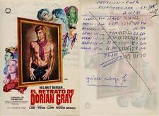 Programa PUBLICITARIO de CINE: El Retrato de Darían Gray. Helmut Berger, Margare