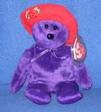TY RUBY the BEAR (RED HAT SOCIETY) BEANIE BABY - MINT with MINT TAGS - NEW