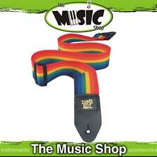 "Ernie Ball Polypro Rainbow Guitar Strap - 2"" Wide - Length Adjustable - New"