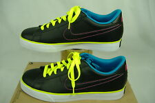 New Womens 9.5 NIKE Sweet Classic Leather Black Blue Party Shoes $65 318333-035