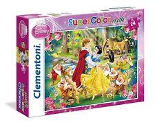 Puzzle Clementoni, Disney, 24 pezzi grandi, Biancaneve principe e i 7 sette nani