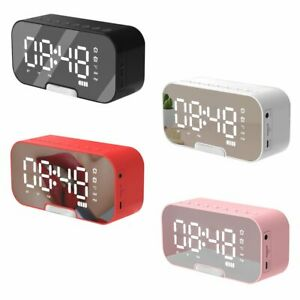 LED Radiowecker Alarmwecker Uhr Tischuhr Bluetooth 5.0 Lautsprecher MP3 FM Radio