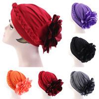 Muslim Women Flower Cancer Chemo Hat Hijab Hair Loss Head Scarf Turban Cap Wrap