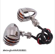 Motorcycle Chrome LED Turn Signals For Kawasaki Vulcan Classic Custom VN900