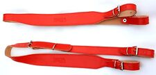 Genuine Leather Accordion Straps Black 60-120 Bass red