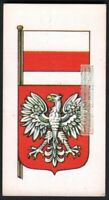 Flag And Standard Banner For  Poland c50 Y/O Trade Ad Card