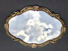 *Large Vintage Carved Mirror Gold *Italy Antique Ornate Wall ~Italian Dresser
