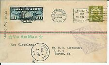 Ulysses Grant #589 FDC 1926 DUAL Airmail Flight Usage CAM16 S1B Kentucky 1928