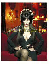 Pin Up Girl PRINT Elvira Mistress Of The Dark Seated On Red Velvet Couch Sexy