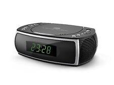 Uhrenradio mit CD Player Radio Wecker Uhr-/Weckfunktion USB Ladefunktion Schwarz