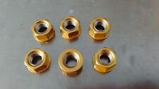 Gold Anodised Sprocket Nut Set for Suzuki GSX-R1100, 1989- 1996