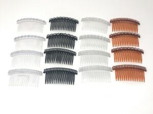 "16 PCS Combs Plastic Hair Clips Side The Color Pick up 4"" ."