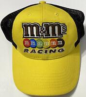 M&Ms Racing SnapBack Hat M&M Yellow Black Adjustable Mesh Adult Cap