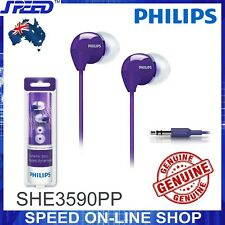 PHILIPS SHE3590PP Headphones Earphones - Extra Bass - PURPLE Color - GENUINE