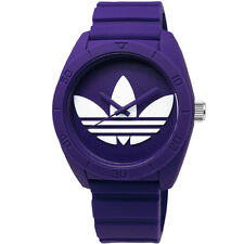 Adidas Unisex ADH6175 Purple Dial Silicone Strap Quartz Watch