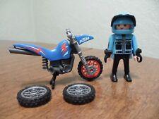 Playmobil Bmx Biker W/Broken BMX Bike & 2 Replacement tires
