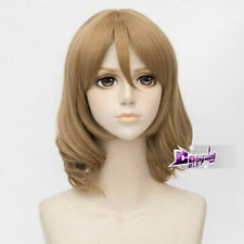 US 40CM Light Brown Wavy Hair for   Fancy Daily You Cosplay Wig + Cap