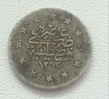 Ottoman Empire Turkey Silver coin 1293 / 2.22 g./Diameter  18mm.