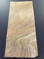"Carpathian Elm Burl wood veneer 3"" x 7"" raw with no backing 1/32""-1/42"" thick"