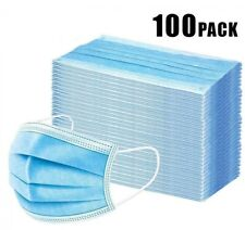 100 Pcs Face Mask with Filter Mouth & Nose Protector Respirator Masks USA Seller
