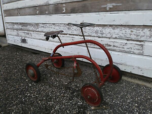 Weller of Milwaukee WI ,collector bicycle-1940's Car-Bike- 4 wheel sidewalk bike
