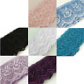 8 Metre SCALLOPED EDGE EMBROIDERED MESH LACE Trim - 7 Colours L105