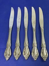 Oneida Deluxe RAPHAEL Hollow Handle Dinner Knives Stainless Flatware Set Of 5